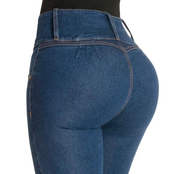 4b66d40dab Butt Lift Jeans High Waist Rise Levanta Cola 500BB. Boutique. Fiorella  Shapewear
